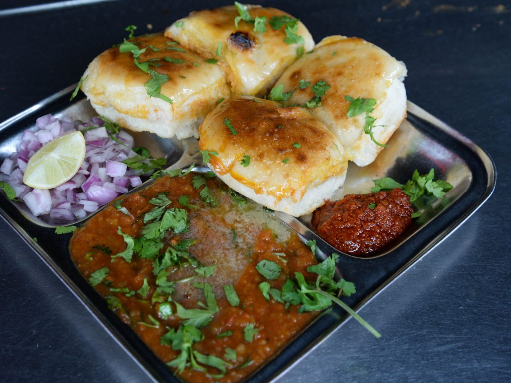 Pav Bhaji Street Food in Jaipur