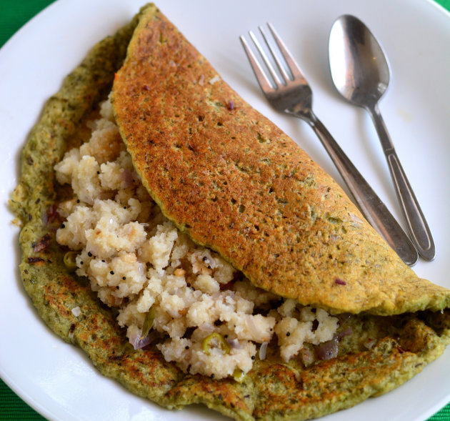 Pesarattu Dosa-Type Street Food in Hyderabad