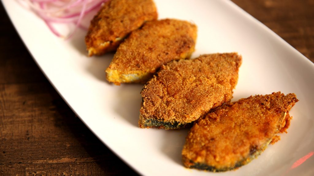 Rava Fish Fry Goa Street Food Fish