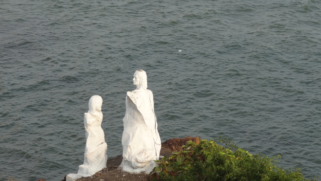 Dona paula beach in North Goa