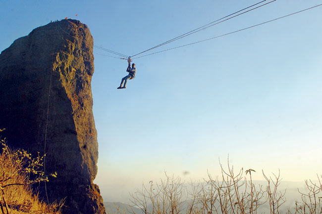 Zip Lining at Duke's Nose Things to do on Lonavala