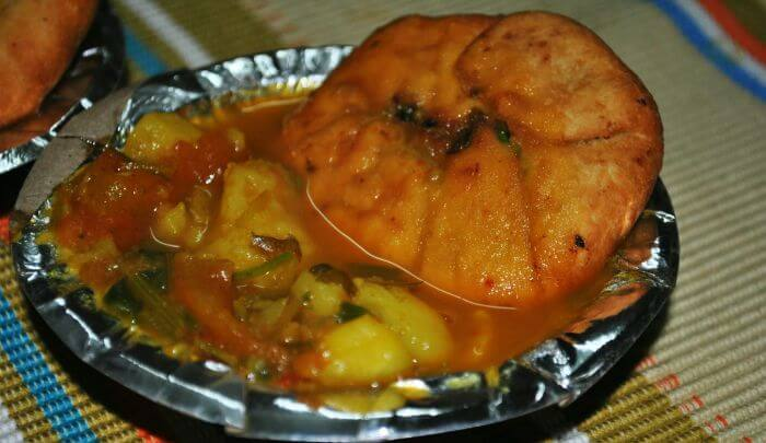 Kachori Sabzi Famous Street Food in Delhi
